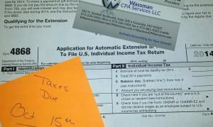 Extended Tax Deadline